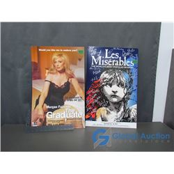 Les Miserables (Cast Autographed) Broadway Musical Poster and The Graduate Broadway Play Poster