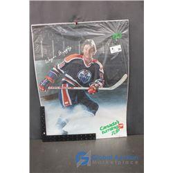 1982 Wayne Gretzky, Edmonton Oilers - 7-Up Ad Poster