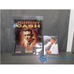 Johnny Cash - The Complete Sun Recording Poster and Michael Jackson's Billie Jean Sheet Music