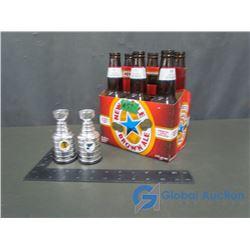 Molson Canadian - NHL Original 6 Team Logo Bottles