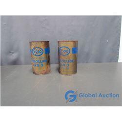 (2) Esso Motor Oil Can (empty)
