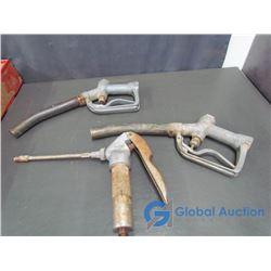 (3) Vintage Gas Nozzles