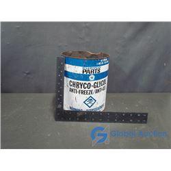 Chryco Anti Freeze Tin Can