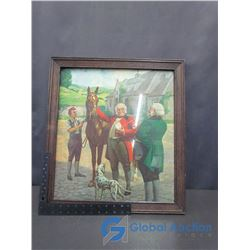 Old Chum Tobacco Framed Advertising Picture