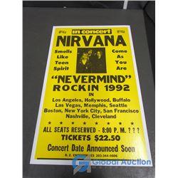 Nirvana Concert Sign