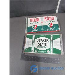 (2) Flattened Out Oil Labels