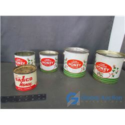 (5) Honey Cans