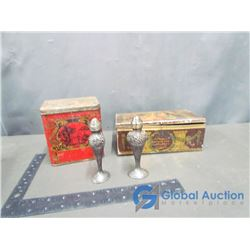 (2) Vintage Tins and Salt & Pepper Shakers