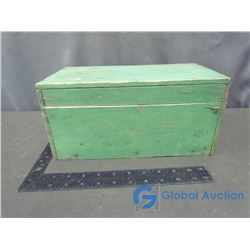 Small Green Wooden Chest/Tool Box