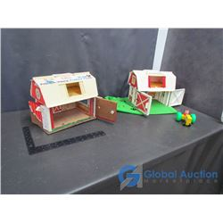 (2) Fisher-Price Barn Playsets
