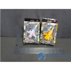 (2) Barbed Wire Force Soldier Diecast Air Planes