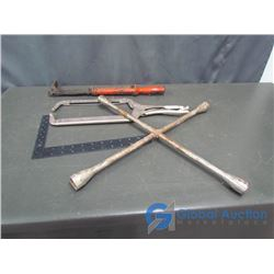"Tire Iron; 18"" Locking Adjustable Clamp & Nail Puller"