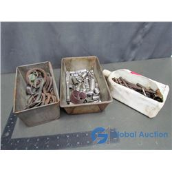 """Assorted Pins & Hardware; Variety of 1/4"""" Dr Sockets"""