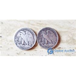 (2) US 50 Cent Coins 1931, 1939
