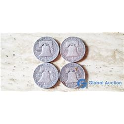 (4) US Liberty 50 Cent Coins 1951-54