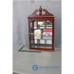 Vintage Collectibles Display Cabinet