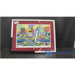 "Framed ""Sunrise City"" Print By L.Schnierer (22/500)"