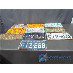 (10) Five Pairs of Licence Plates