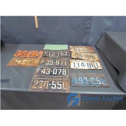 (11) Licence Plates - 50's, 1060-1962