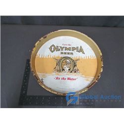 Olympia Beer Metal Tray