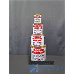 (4) Rogers Syrup Tins
