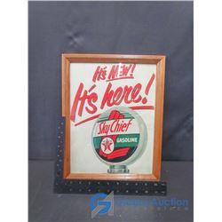 Framed Texaco Advertisement