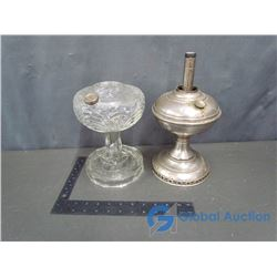 Vintage Glass and Metal Lamps
