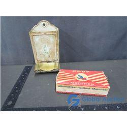 Matchbox Holder and Match Box