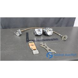 Bicycle Lights, Speedometer, Lock & Wrench