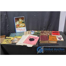 Vintage Notebooks, Scrapbooks, Papers & Books