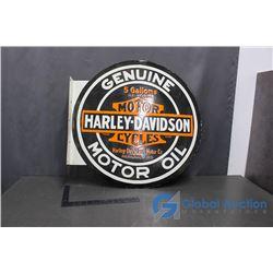 Harley Davison Porcelain Sign