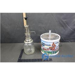 Western Ice Bucket & Glass Pump Dispenser