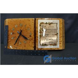 Wooden Wall Clock - Religious Book