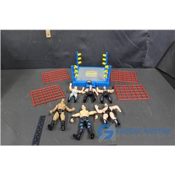 WCW Wresling Ring and Wrestlers