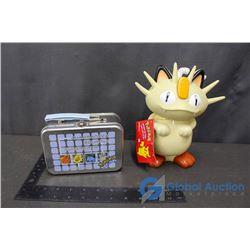 Pokemon Water Bottle and Mini Lunch Box