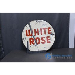 White Rose Tin Sign