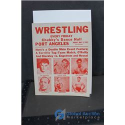 1952 Wrestling Advertisment Flyer