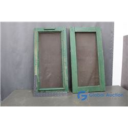 (2) Wood Framed Screens