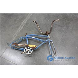 **Vintage Blue Sprinter Bicycle Frame