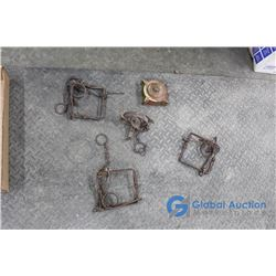 (3) Fur Traps, Victor Gopher Trap, & Brass Fuel Cap