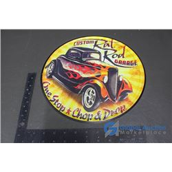 Custom Rat Rod Garage Repro Tin Sign 12""