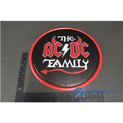 """AC/DC Repro Tin Sign 12"""""""