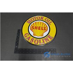 "Shell Repro Tin Sign 12"""