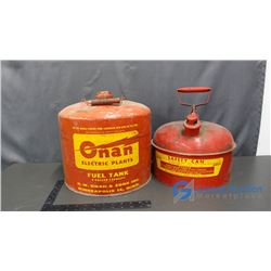 (2) Metal Fuel Cans