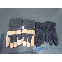 Manzella Polartec Black Nylon Gloves & Dakota Thinsulate Leather Work