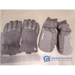 Eddie Bauer Ski Gloves (m) Black & Windriver Ski Mitts