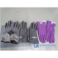 Ladies Joe Fresh Knit Gloves (S), Grey; Ladies Knit Gloves,
