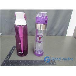 Booster Juice Water Bottle, Purple; Brita Water Bottle, Purple