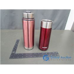 Contigo Coffee Cup (red) PC Water Bottle (Pink)