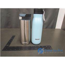 Zonko (Harvard) Water Bottle and Contigo Cup SIlver